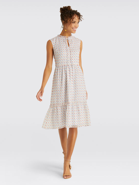 Swiss Dot Tiered Dress*