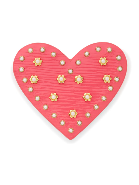 Heart Leather Pin