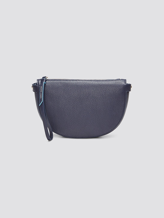Leather Half Moon Wristlet