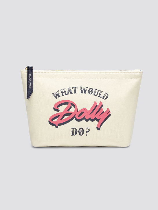 What Would Dolly Do Canvas Pouch