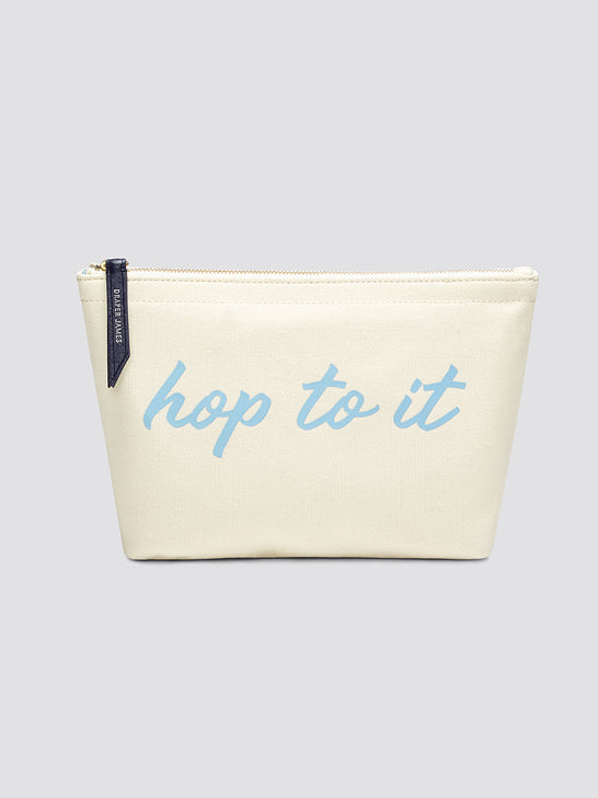 Hop To It Canvas Pouch