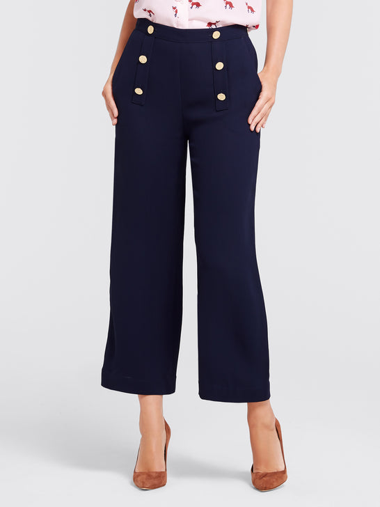 Solid Sailor Cropped Pant*