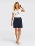Scallop Faux Wrap Skirt