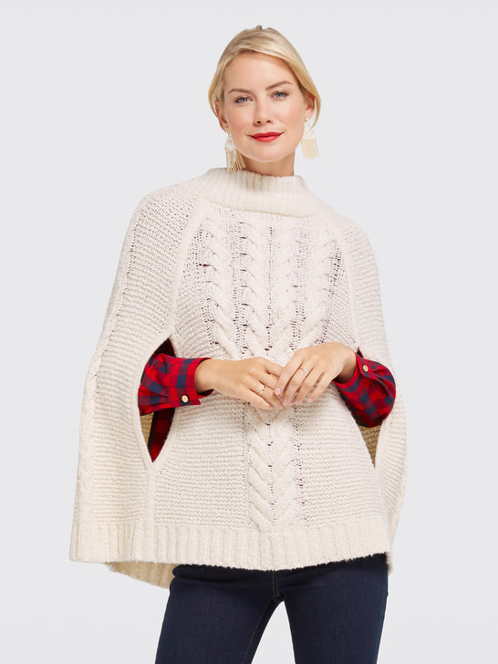 Cable Sweater Cape*