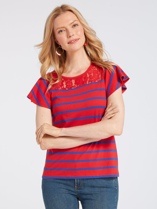 Spirit Lace Stripe Tee