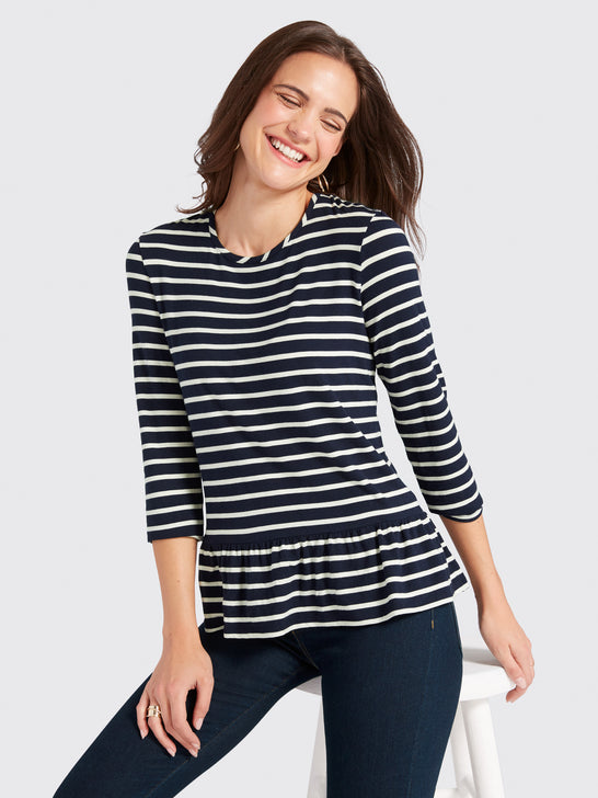 Sailor Stripe Peplum Tee*