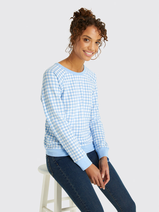 Gingham Sweatshirt