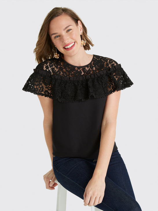 Collection Ruffle Lace Top