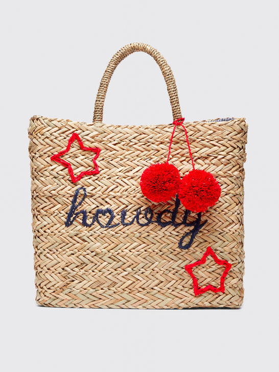 Howdy Straw Tote