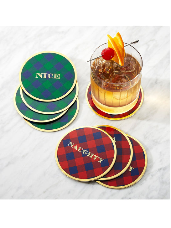 Draper James x Crate and Barrel Naughty & Nice Coaster Set