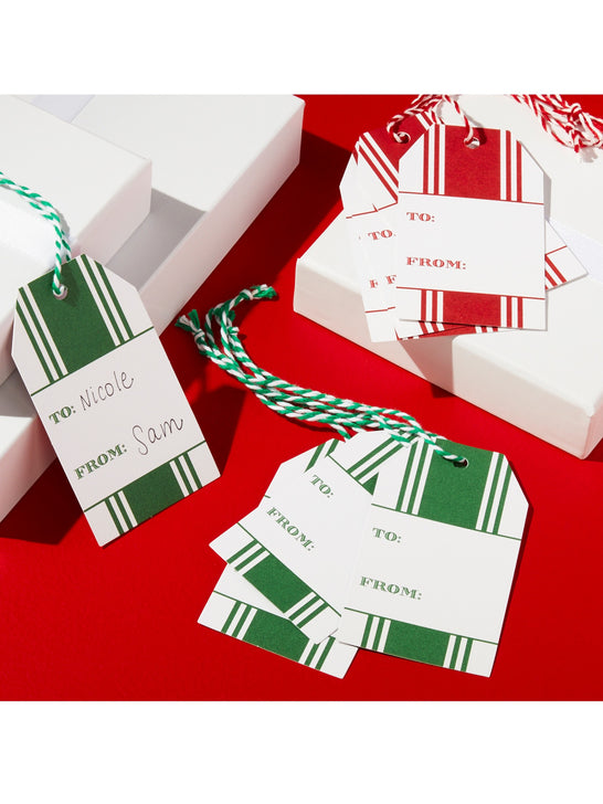 Draper James x Crate and Barrel Center Stripe Holiday Gift Tag Set*