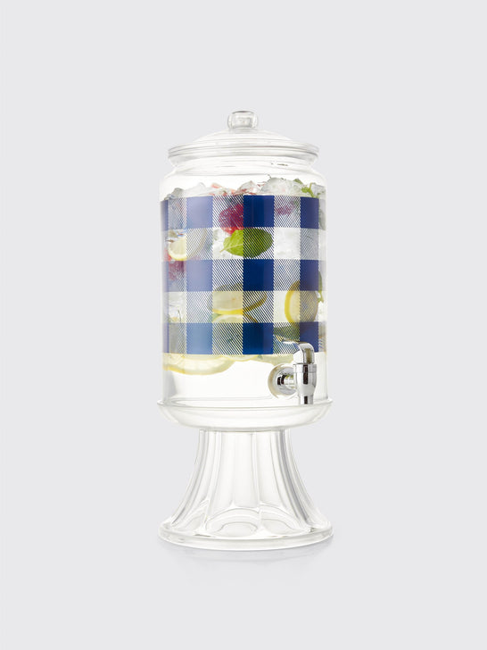 Crate and Barrel x Draper James Check Drink Dispenser