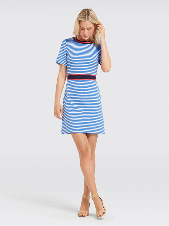 Stripe Persley Ponte Dress
