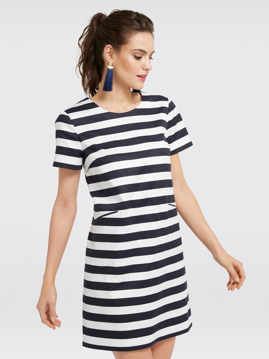 Stripe Shift Mini Dress