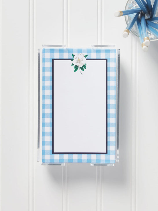 Gingham Note Sheets in Holder*