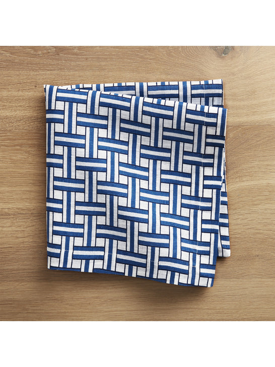 Crate and Barrel x Draper James Indigo Basket Weave Dinner Napkin*