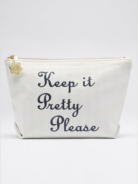 Keep It Pretty Please Canvas Pouch*
