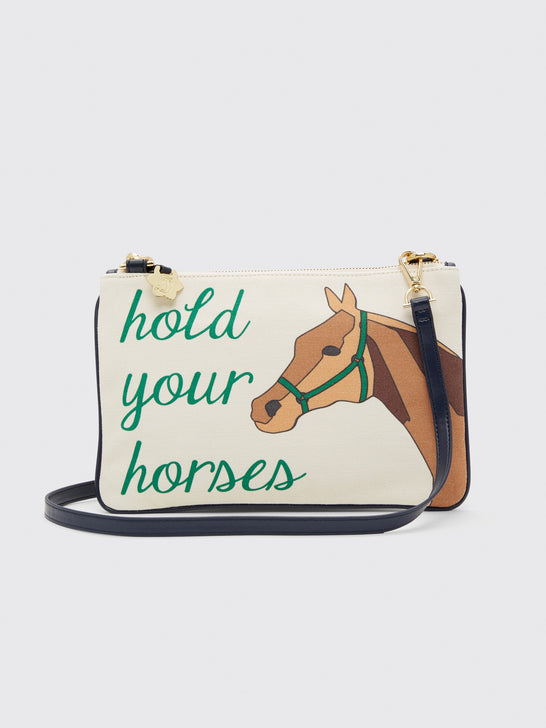 Keeneland Hold Your Horses Envelope Clutch