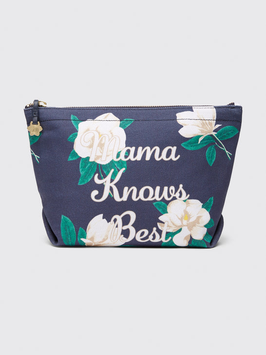 Mama Knows Best Magnolia Canvas Pouch