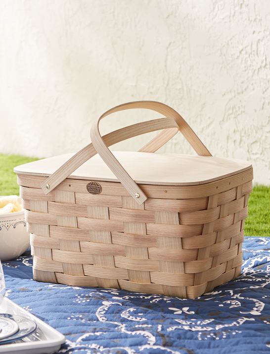 Draper James x Crate and Barrel Cookout Peterboro Picnic Basket