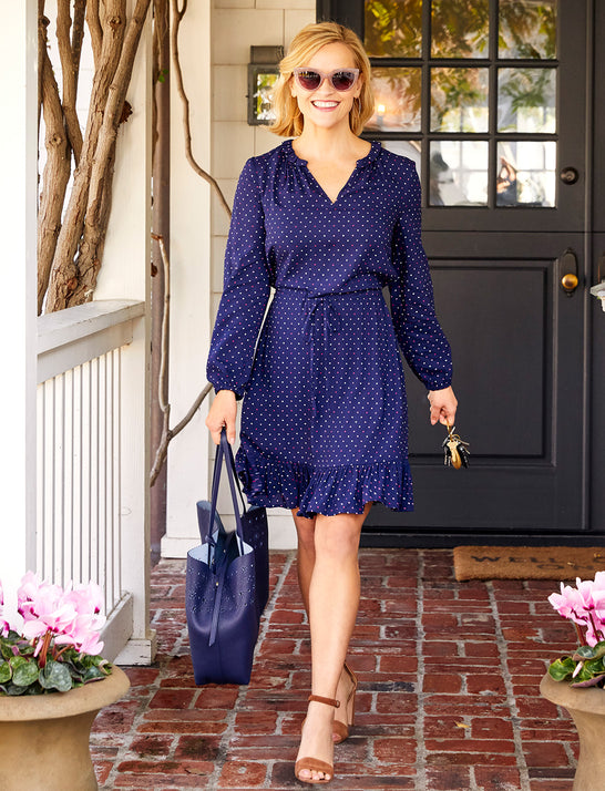 Multi Dot Popover Dress*
