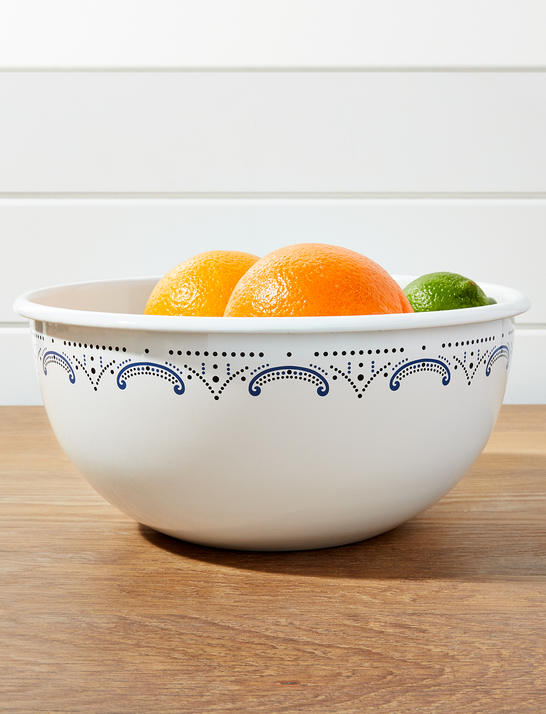 Draper James x Crate and Barrel Cookout Enamel Serving Bowl*