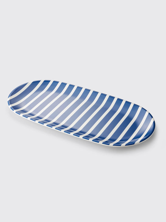 Crate and Barrel x Draper James Stripe Platter