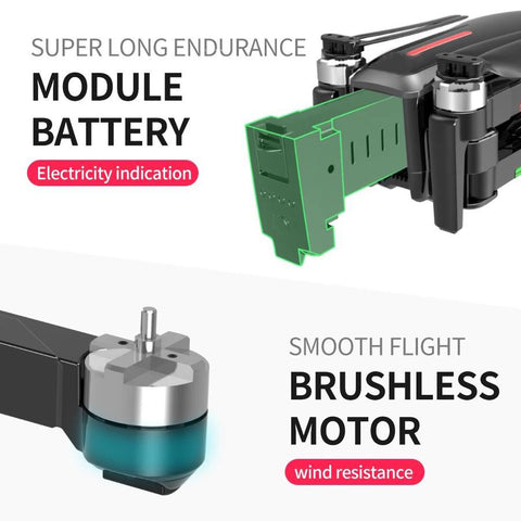 LIMITLESS Drone Brushless Motors and Long Lasting Battery