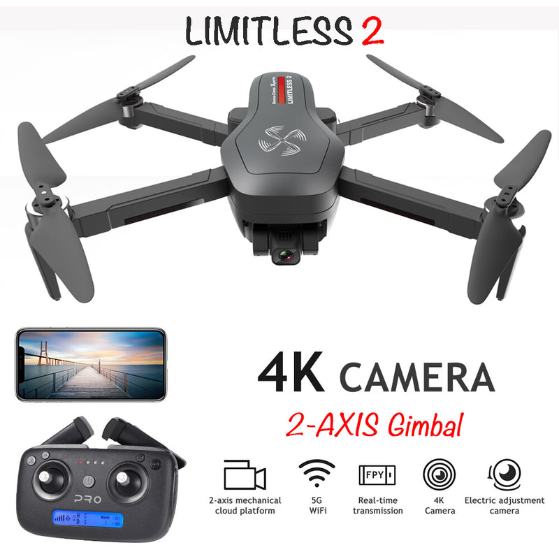 Drone X Pro LIMITLESS 2 Patriotic Special Edition w/ GPS 4K Camera WiFi FPV Live Video Follow Me RTH