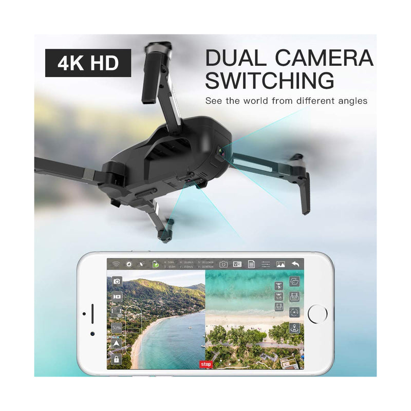 Drone X Pro LIMITLESS 4K GPS 5G WiFi UHD Dual Camera FPV Live Video Follow Me Mode 25min Battery RTH