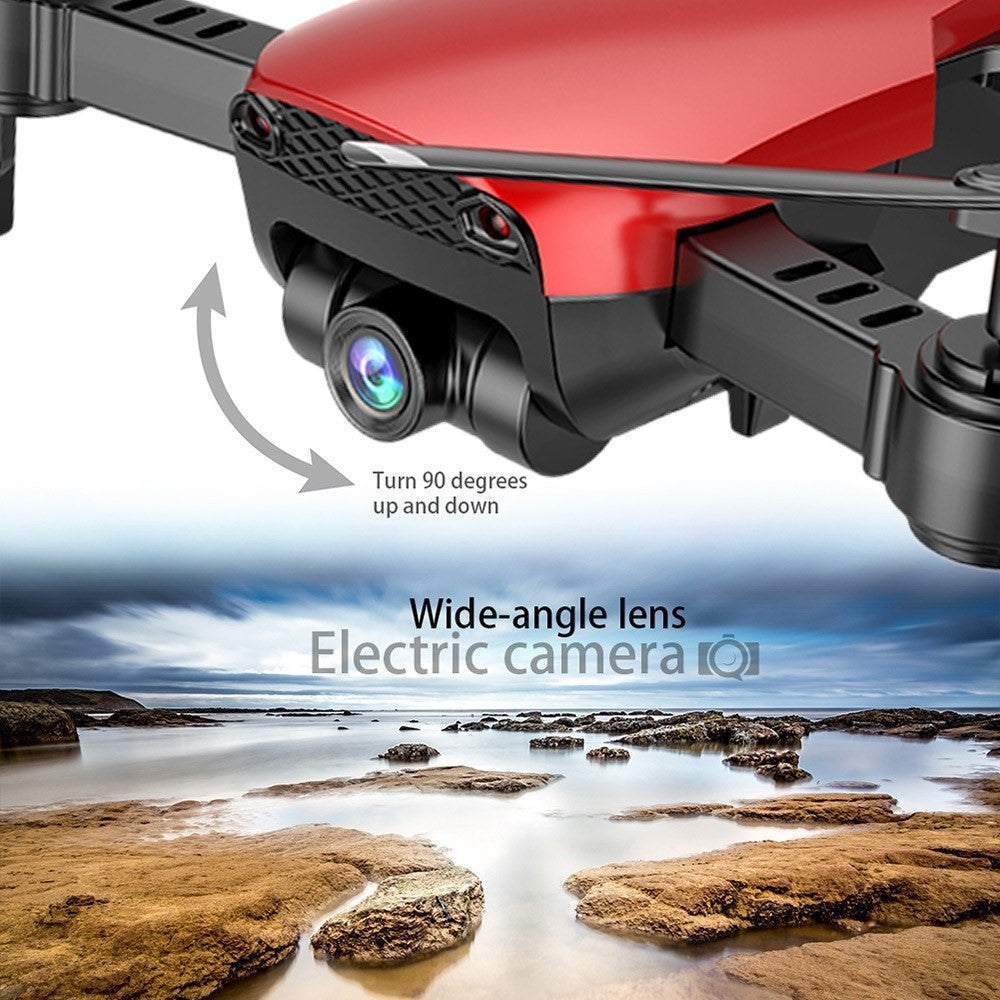 Mavic Air Clone 720p HD Wide-Angle Camera WIFI FPV Photo and Video Real-Time Transition with 16min Flight Time  Altitude Hold APP Control and 1-Key Takeoff/Return/Land (2 Batteries)