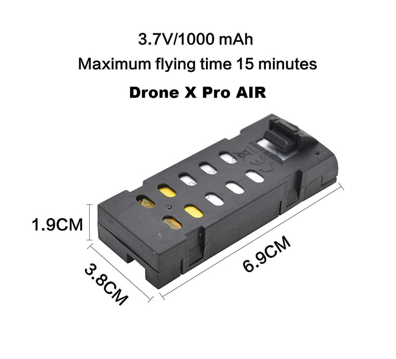 Drone X Pro AIR Batteries 3.7V 1000mAh