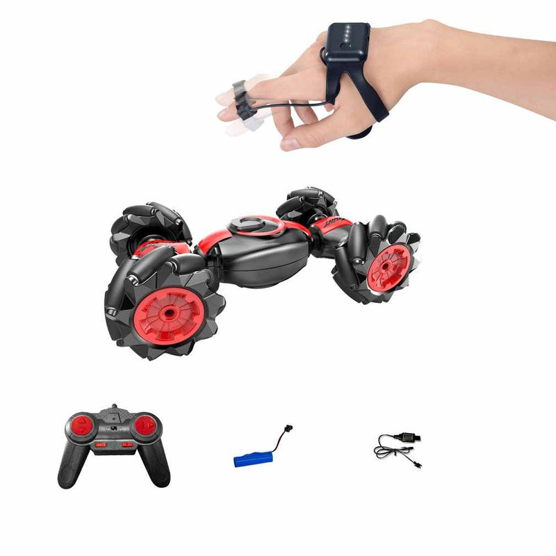Remote Control Car, 4WD Off-Road RC Stunt Truck Toy 360° Rotation Drift Wheels Gesture Control Watch