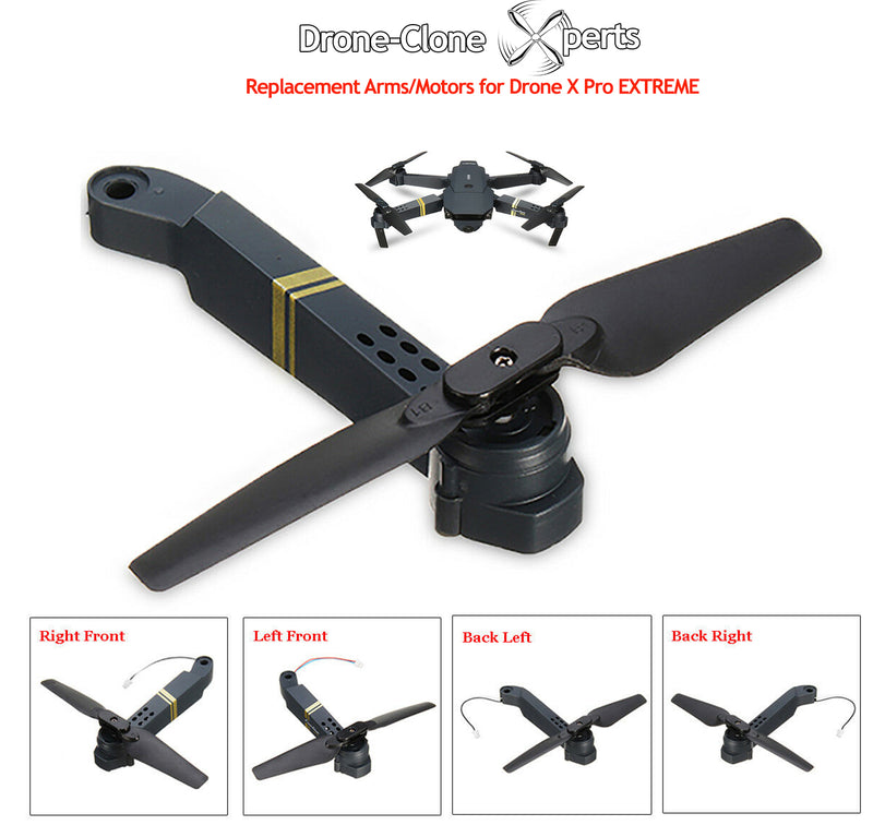 Drone-Clone Xperts Drone X Pro EXTREME Spare Parts - Axis Arms with Motor & Propeller