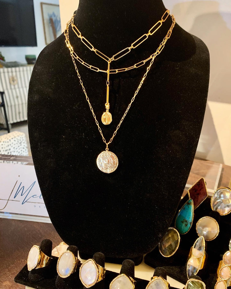 Layered Coin Necklaces