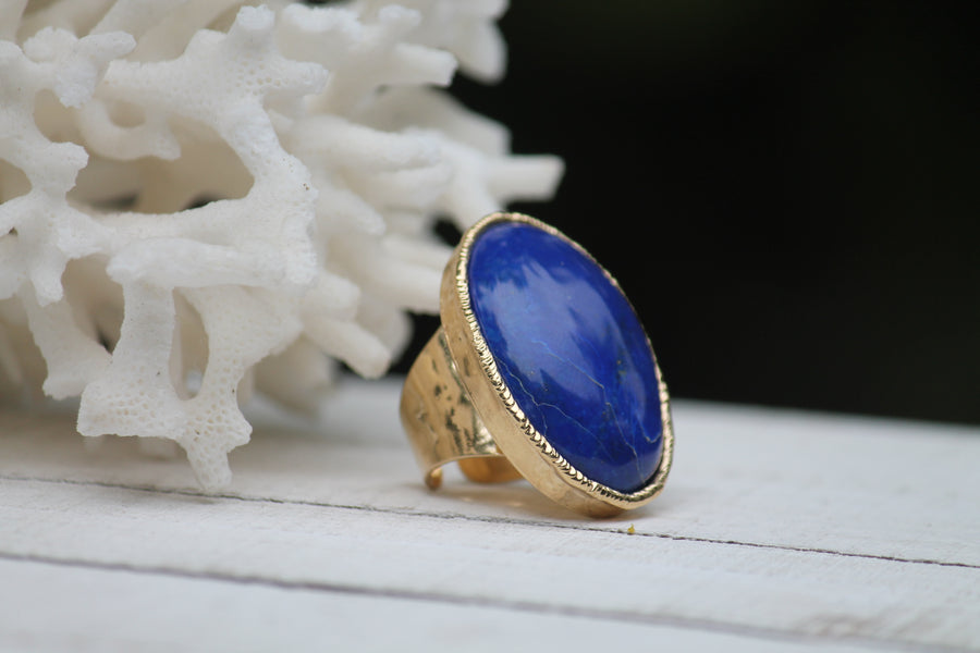 Blue Lapis oval ring
