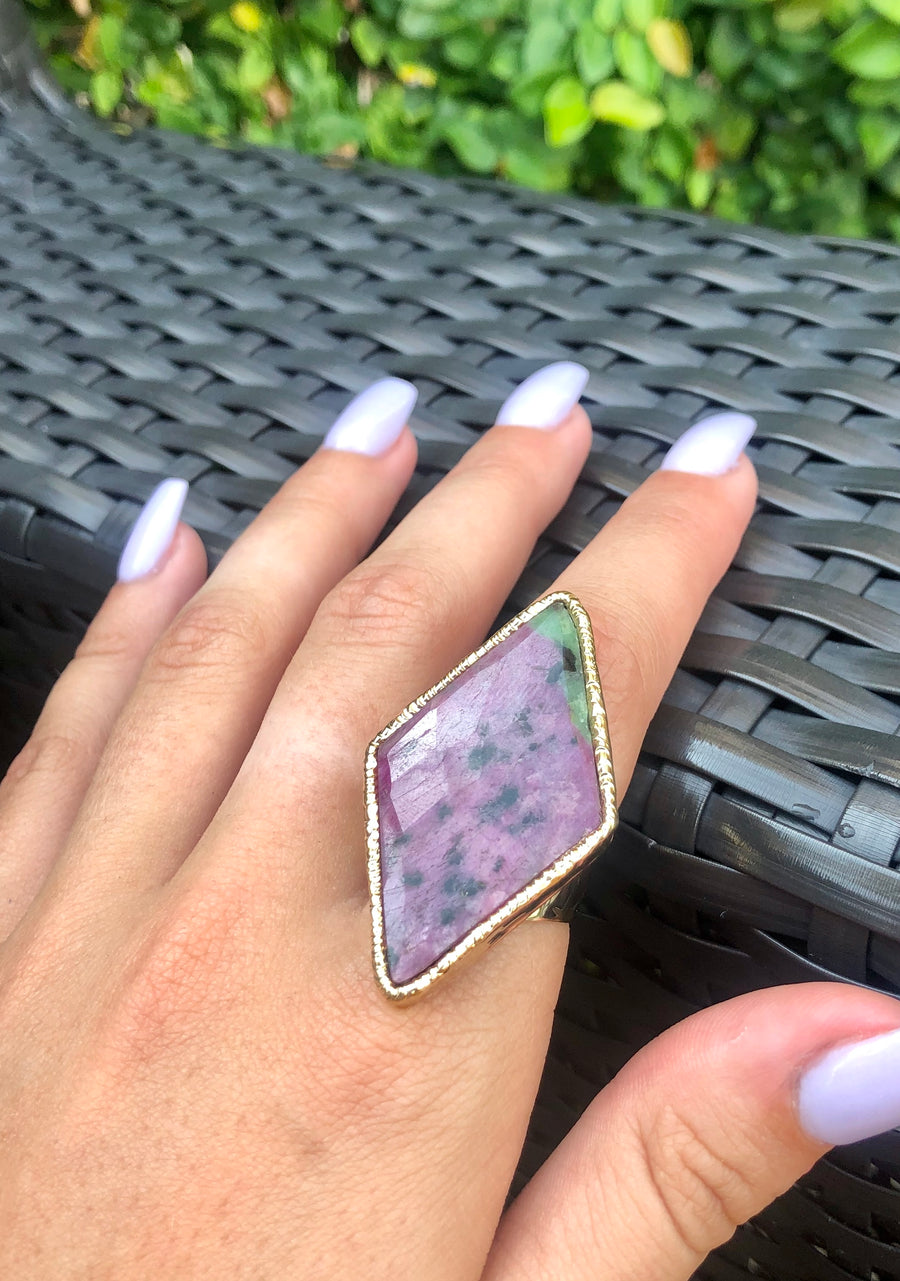 Ruby in Fuschite ring