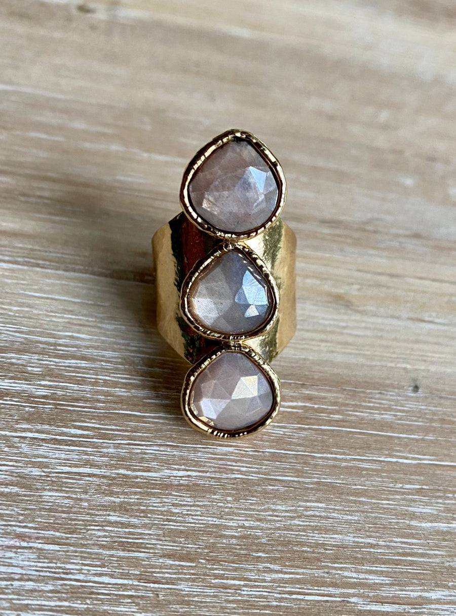 Mystic Moonstone ring