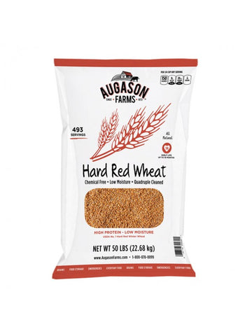 Augason Farms Hard Red Wheat 50lb Bag