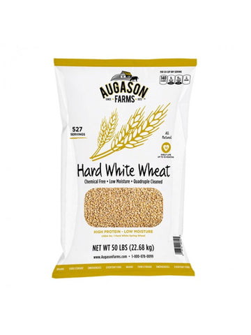 Augason Farms Hard White Wheat 50lb Bag