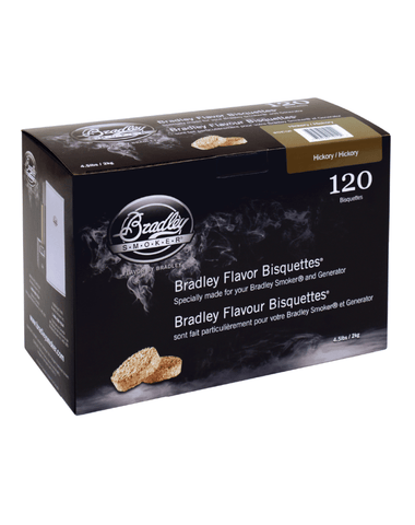 Bradley Flavor Bisquettes - Hickory 120Pk