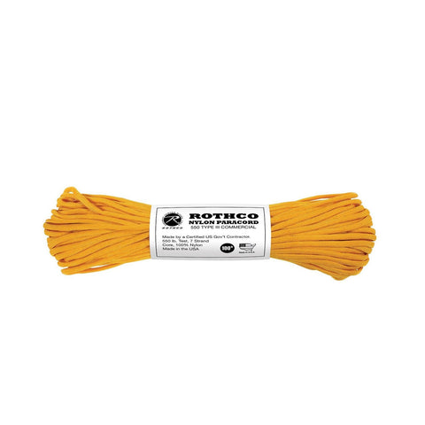 Nylon Paracord Type III 550 LB 100FT - Gold