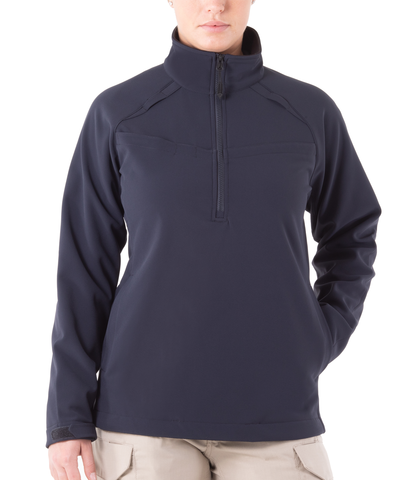 FIRST TACTICAL WOMEN'S SOFTSHELL JOB SHIRT HALF ZIP