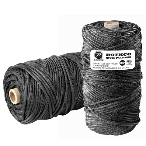 Nylon Paracord 550lb 300 Ft Tube - Black
