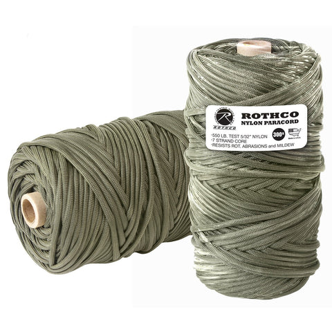 Nylon Paracord 550lb 300 Ft Tube - Olive Drab