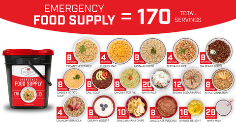 170 Serving Emergency Food Preparedness Kit