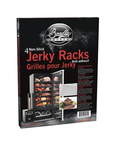 Bradley Smoker Jerky Racks, Teflon Coating, 15×11.9 in, 4 Pack