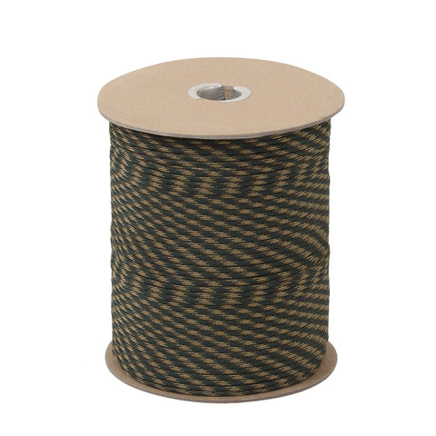 Rothco Nylon Paracord 550lb 1000 Ft Spool- Woodland Camo