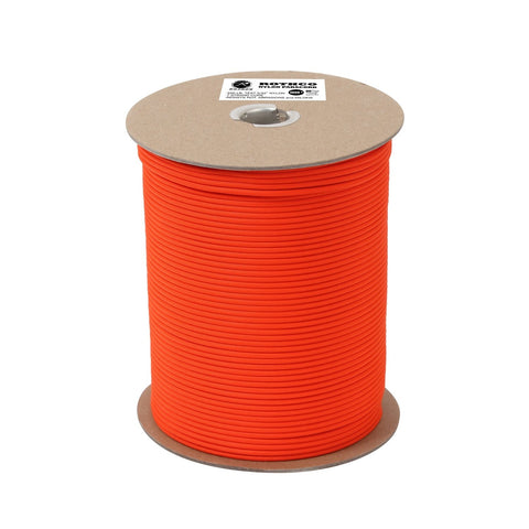 Rothco Nylon Paracord 550lb 1000 Ft Spool- Safety Orange