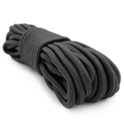 "9MM (3/8"") X 50' NYLON BRAIDED ROPE - BLACK"